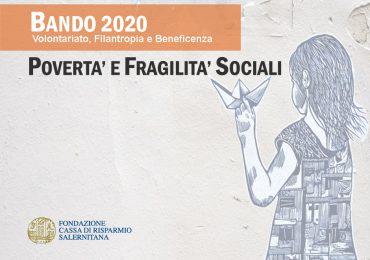"""Bando 2020 """"Povertà e Fragilità Sociali"""""""