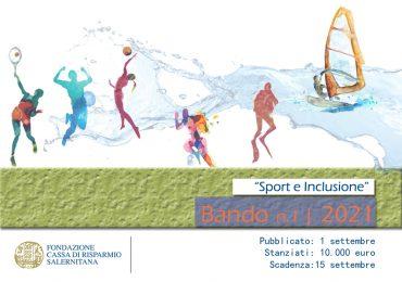 """Pubblicato il bando tematico """"Sport e inclusione"""""""